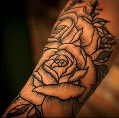New Post - Woodcut Style Rose Tattoo has been published on http://tattooideasbase.com/woodcut-style-rose-tattoo/