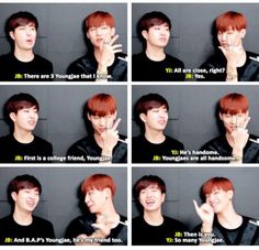 JB & the 3 Youngjae's he knows XD