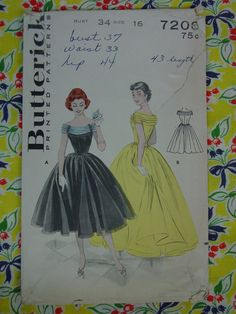 Butterick 7206; Sz 16 AND 14/Bust 34 AND 32