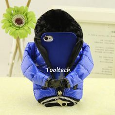 New Designer Lovely Down Jacket for iPhone 5s 5c 5g 4s Samsung S4 Note 2 Phone Pouch Case Cover, Canvas Cotton Mobile Phone Bags $9.29