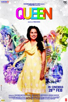 Queen (2014) - This is the story of a simple Delhi based girl who's life changes unexpectedly. Rani, a simple middle class, conservative girl has her dreams shattered when her to be husband leaves her stranded at the altar. Rani then decides to go on the honeymoon - the one she's always been planning - by herself. #bollywood #queen2014 #cinema #film #movies #movies2014
