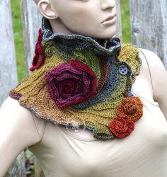 Unique crochet Scarf Neckwarmer Crochet CHunky cowl scarf