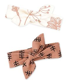 Tesa Babe Autumn Blooms & Clay Trees Headbands - Set of Two | zulily
