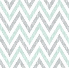 ORGANIC Crib Sheet - Grey Mint Chevron Sheet / Nursery Bedding / Organic Cloud9 Simpatico on Etsy, $50.00