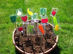 Vegetable Garden Markers by SlateGlass on Etsy, $7.00