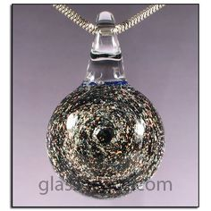 SALE Sparkling Gold Glass Galaxy Pendant by Glass Peace $15.00