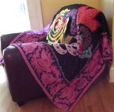 """Hippie Rag Quilt """"Lush Flowers"""" by marylandquilter on Etsy https://www.etsy.com/listing/101676460/hippie-rag-quilt-lush-flowers"""