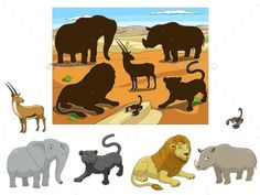 Buy Match the Animals to their Shadows Child Game by AlexanderPokusay on GraphicRiver. Match the animals to their shadows child game cartoon colorful vector illustration Body Preschool, Preschool Colors, Preschool Learning Activities, Animal Activities, Book Activities, Lesson Plans For Toddlers, Animal Tracks, Zoo Animals, Kids Education