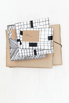 Black, White, and Brown Paper Packaging Pretty Packaging, Gift Packaging, Paper Packaging, Product Packaging, Packaging Ideas, Best Gifts For Him, Christmas Inspiration, Creative Gifts, Paper Goods