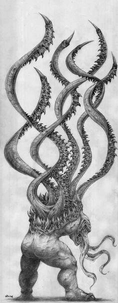 Tentacle Monster by Morbidmic #octopus #squid #tentacle