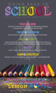 young living essential oils - keeping healthy while in school!