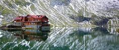 The lodge at Balea Lac, Romania - Fagaras Mountains Wonderful Places, Beautiful Places, Glacier Lake, Ice Hotel, Famous Castles, Medieval Castle, Eastern Europe, Cool Places To Visit, Beautiful World