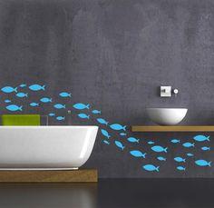 Salle de bain mur autocollant poisson decal par newpoint sur Etsy https://www.etsy.com/fr/listing/167885363/salle-de-bain-mur-autocollant-poisson