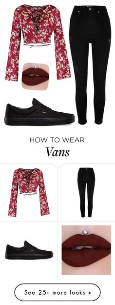 """""""moon"""" by bedlov on Polyvore featuring River Island and Vans"""