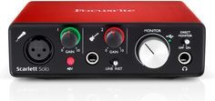 Focusrite Scarlett Solo USB Audio Interface Generation) With Pro Tools and More, Black Monitor, Recording Studio Home, Professional Audio, Studio Gear, Ableton Live, Mac Pc, Pedalboard, Nintendo Wii Controller, Scarlet