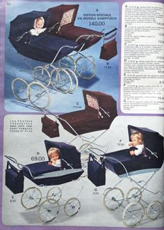 catalogue galeries lafayette 1969 - Page 6 Baby Kind, Vintage Pram, Retro Vintage, Vintage Stuff, Vintage Advertising Posters, Vintage Advertisements, Prams And Pushchairs, Dolls Prams, Toys