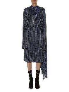 Open-back polka-dot print dress | Vetements | MATCHESFASHION.COM