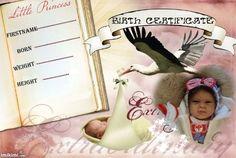 birth certificate tuva Birth And Death, Birth Certificate, Reborn Dolls, Little Boys, I Movie, Marriage, Nursery, Personal Care, Template
