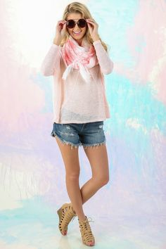 This sweater will leave him blushing! The perfect little blush sweater! You don't just want it, you need it! Want, need, love!