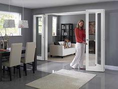 Sliding Door Room Dividers, Partition Door, Room Divider Doors, Folding Room Dividers, Room Doors, Folding Sliding Doors, Folding Partition, Wall Dividers, Closet Doors