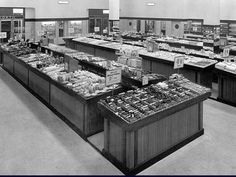 An Old Photo of the inside of Woolworths Rye Lane Peckham South East London England London Pictures, Old Pictures, Old Photos, London History, Local History, Family History, South London, Old London, Forest Gate London