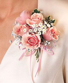 Pink Roses Corsage #