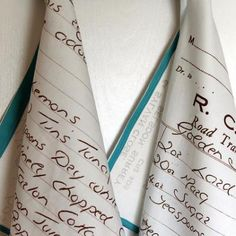 HOW TO TURN HANDWRITTEN RECIPES INTO TEA TOWELS – SPOONFLOWER BLOG