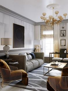 Living room ideas that are going to be a blast when it comes to getting an interior design ideas looking like a million bucks! Add the modern decor touch to your home interior design project! Living Room Green, Living Room Modern, Interior Design Living Room, Home And Living, Modern Couch, Classic Living Room, Living Room Ideas Modern Contemporary, Modern Living Room Curtains, Art Deco Living Room