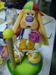 Cão eva Foam Crafts, Diy And Crafts, Polymers, Ideas Para, Princess Peach, Scrapbook, Cute, Crochet Roses, Ideas