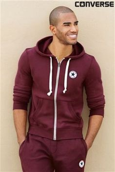 burgundy converse jacket