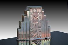 Skyscraper bronze clock