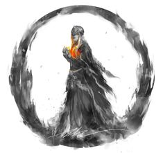 """""""Of course. I serve thee, and will do as thou bid'st. Stay thy path, find lords to link the fire, and I will blindly tend to the flame. Until the day of thy grand betrayal. Dark Fantasy, Fantasy Art, Dark Souls 3, Dark Souls Fire Keeper, Seele Tattoo, Soul Saga, Bloodborne Art, Arte Horror, Warhammer 40000"""