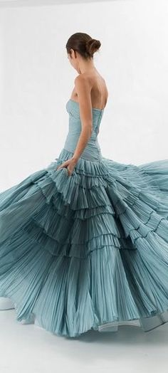 Random things that appeal to me on a variety of levels. Green Gown, Shades Of Teal, Deep Teal, Duck Egg Blue, Pantone Color, Dusty Blue, Couture Dresses, Simple Dresses, Beautiful Gowns