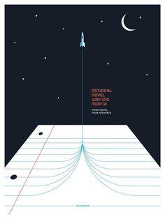 NaNoWriMo - Rocket - 2016 Poster