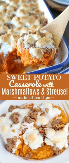 The BEST Sweet Potato Casserole with Marshmallows and Brown Sugar Streusel. The … The BEST Sweet Potato Casserole with Marshmallows and Brown Sugar Streusel. The perfect side dish for Thanksgiving or any other holiday celebration. Best Thanksgiving Recipes, Thanksgiving Sides, Fall Recipes, Holiday Recipes, Sweet Potatoes Thanksgiving, Vegetables For Thanksgiving, Thanksgiving Deserts, Thanksgiving Casserole, Thanksgiving Celebration