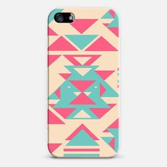 Girly Pink Turquoise Abstract Diamond Triangles | Love! Personalize your iPhone and Samsung Galaxy device case using Instagram, Facebook and personal photos on Casetagram.