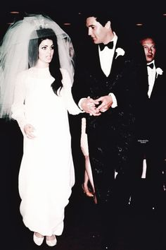 Elvis and Priscilla Presley on their wedding day, Las Vegas, NV, May 1, 1967.