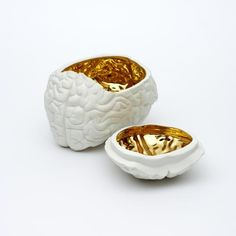 """""""think tank"""" human interior porcelain containers from Vespoe"""