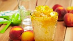 Peach, Honey and Lime Raspado