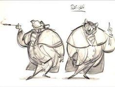 RATIGAN!- The Great Mouse Detective Concept Art
