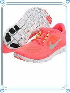 Nike Free Run 3.0 Womens Coral