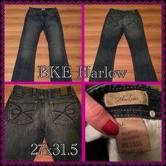 BKE Harlow 27x 31.5 Like new BKE Harlow jeans BKE Jeans Flare & Wide Leg