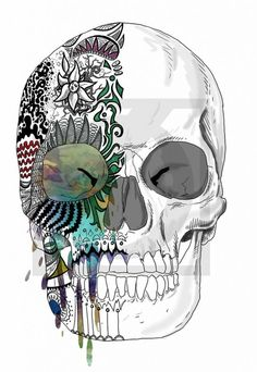 Love Drawings Ideas | Candied-Skull-Drawing-Love-The-Mixture-Of-Charcoal-And-Water-Color ...