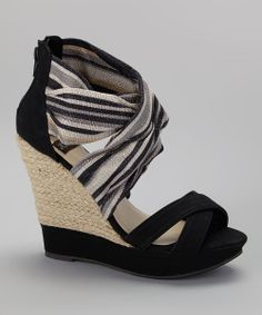 Black Lomasi Wedge Sandal....not now, but how cute are these??