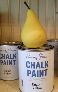 English Yellow Chalk Paint® decorative paint by Annie Sloan | Via stockist The Purple Pear in Portland, OR