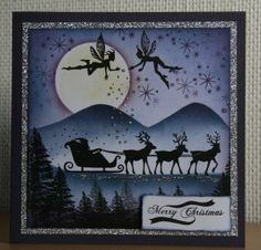 snow scene using lavinia stamps Homemade Christmas Cards, Christmas Cards To Make, Christmas Tag, Handmade Christmas, Christmas Trees, Encre Distress Ink, Lavinia Stamps Cards, Christmas Animals, Fairy Art