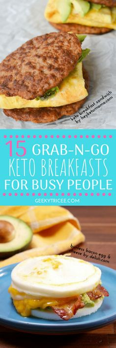 15 Grab-n-Go Keto Breakfast Recipes That are Deliciously Guilt-Free | GeekyTricee | ketogenic diet, keto breakfast ideas, keto diet #ketogenicdiet