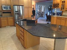 Modern Kitchen With Bianco Romano Granite Countertops | Kitchen Countertops  | Pinterest | Countertops, Granite Countertops And Countertop