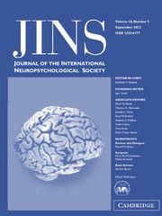 Journal of the International Neuropsychological Society