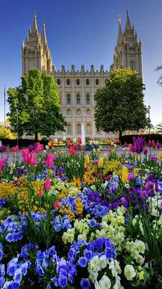 Spring has Sprung - LDS Temple Square in Salt Lake City, Utah Mormon Temples, Lds Temples, Utah Temples, Salt Lake Temple, Salt Lake City Utah, Wyoming, Places Around The World, Around The Worlds, Beautiful World